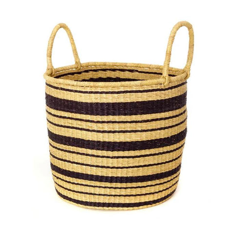 Striped Elephant Grass Hamper- Large- PICK UP ONLY