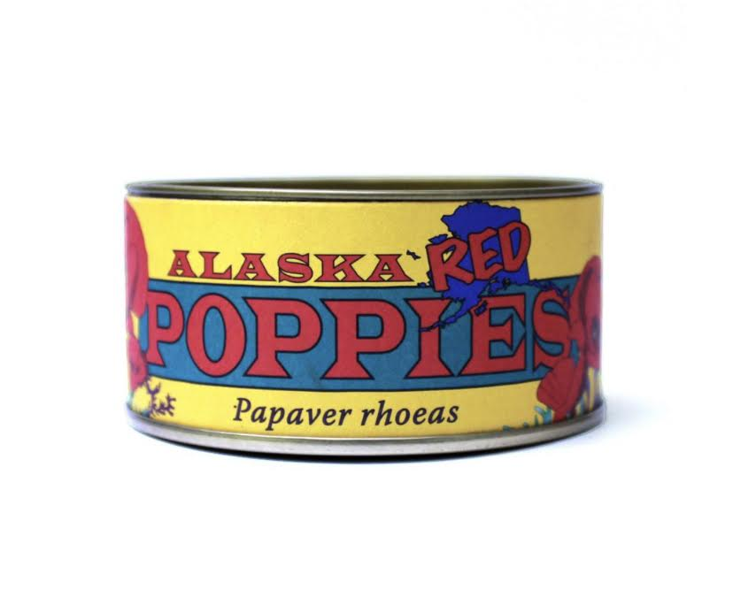 Alaska Red Poppy Seed Tin