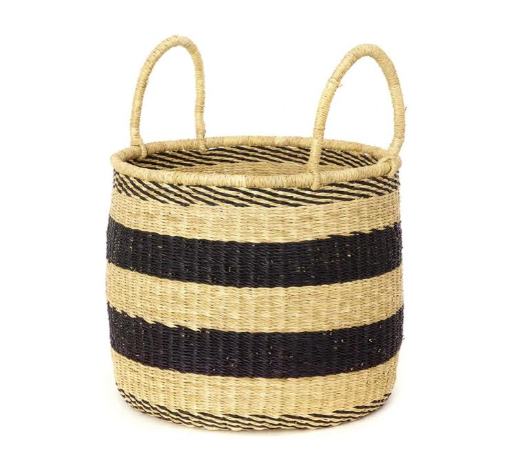 Striped Elephant Grass Hamper- Medium- PICK UP ONLY