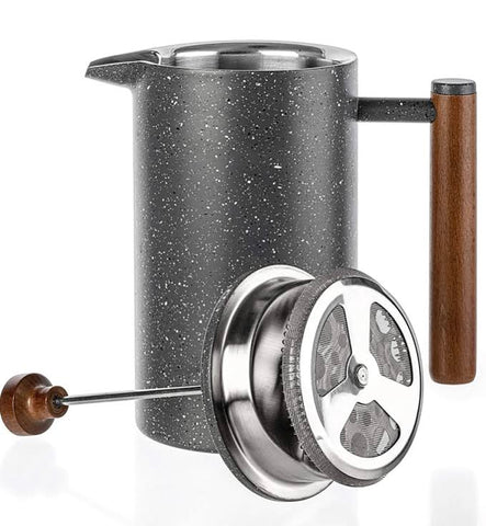 Marble Stainless Steel French Press 32oz - Coffee Tea Teapot