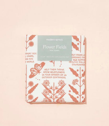 Flower Fields Tea Towel