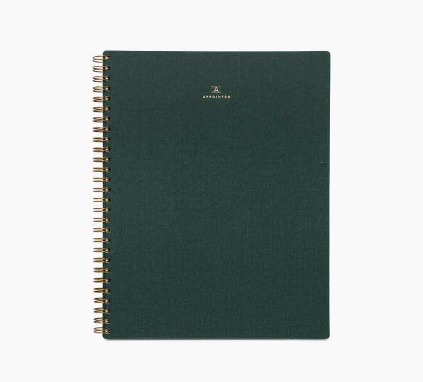 Appointed Lined Spiral Notebook