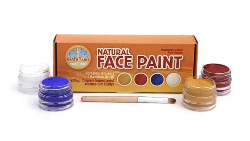 Natural Face Paint- 4 colors & brush