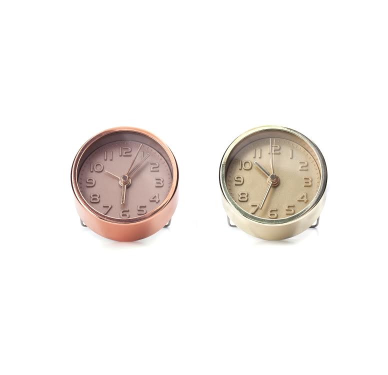 Copper or Gold Alarm Clock