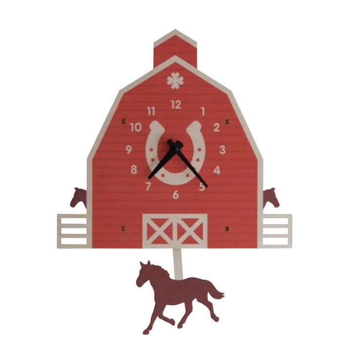 Horse and Barn  Pendulum Clock