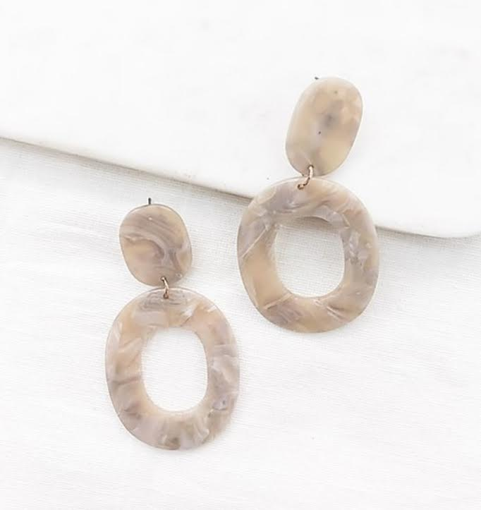 Acrylic Larrimore Statement Earrings