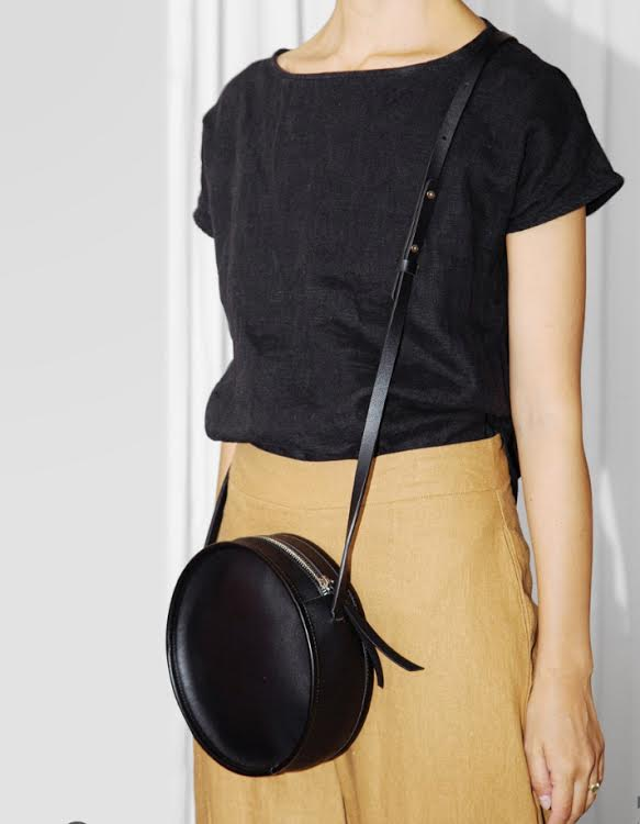 Poketo Vegan Leather Circle Bag