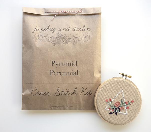 Pyramid Perennial Cross Stitch Kit