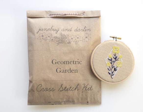 Geometric Garden Cross Stitch Kit