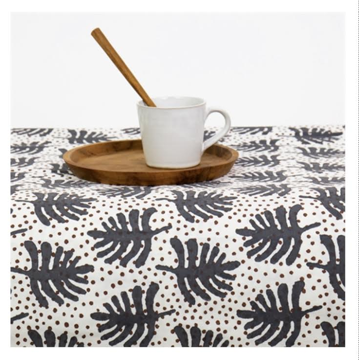 Blue Star Fern Table Cloth