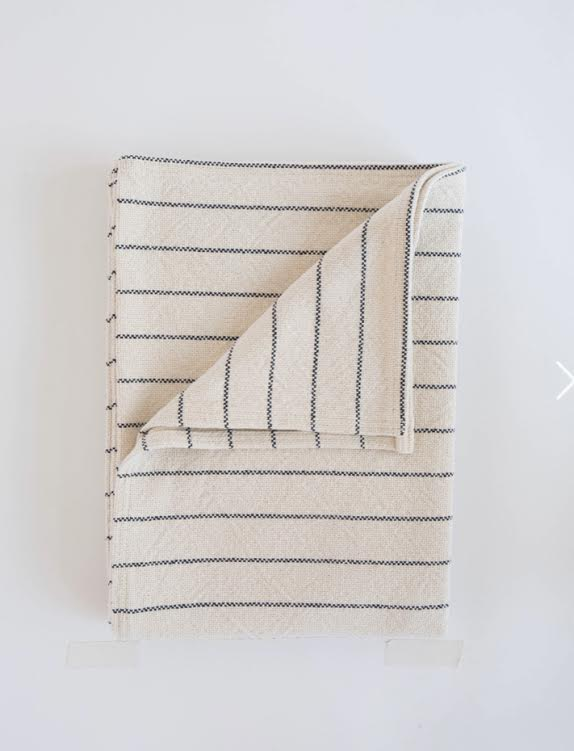Evangeline Cotton Pinstripe Throw