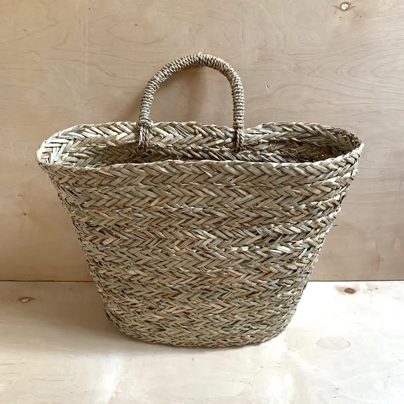 Seagrass Wall Basket- L