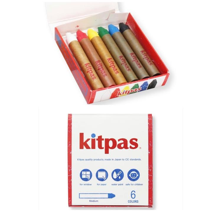 Kitpas Art Crayons: 6 Colors