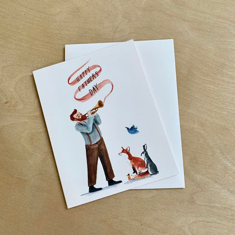 Father's Day Card with Animals