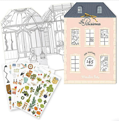 Moulin Roty Les Parisiennes Coloring & Sticker Book