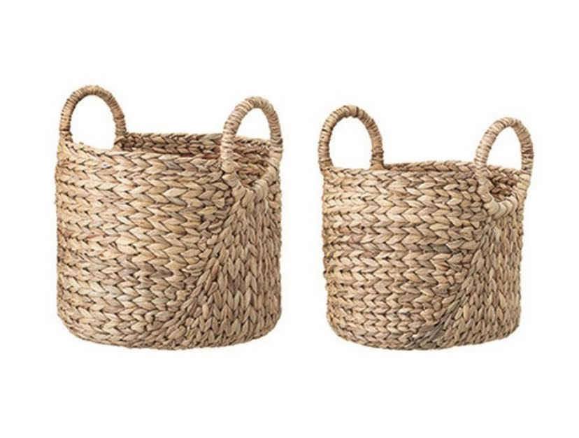 Hand-woven Seagrass Basket with Handles- 12