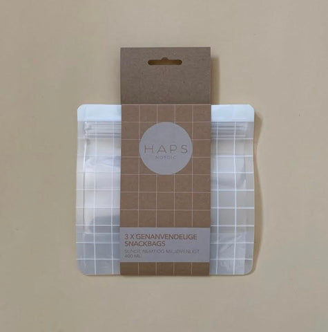 HAPS Nordic 3-pack Snack Bags- 400ml