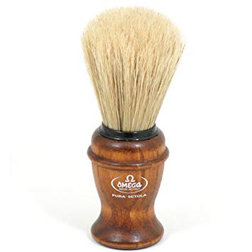 Omega Shaving Brush- Ash Wood