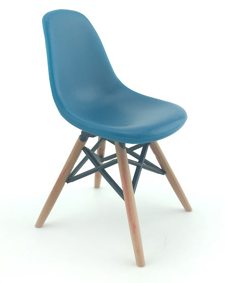 Miniature DSW Blue Dining Chair