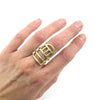Brass Linear Ring