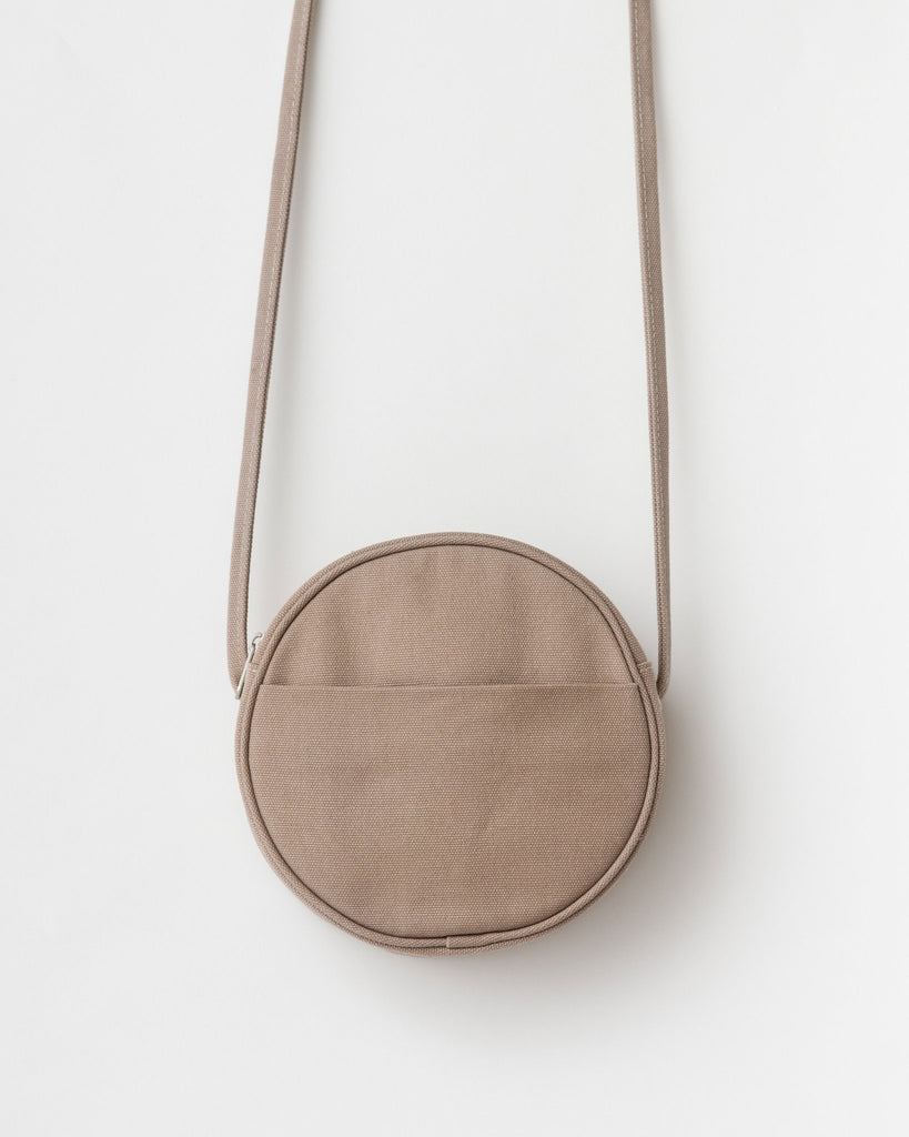 Small Canvas Circle Purse