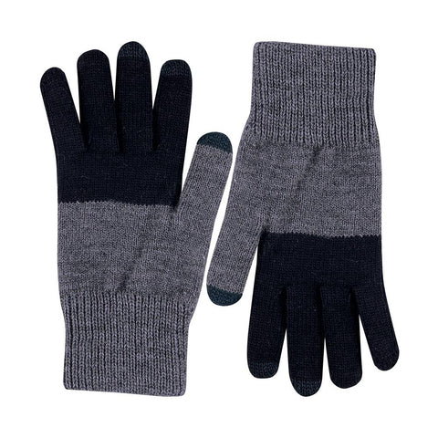 Black & Grey Touchscreen Gloves