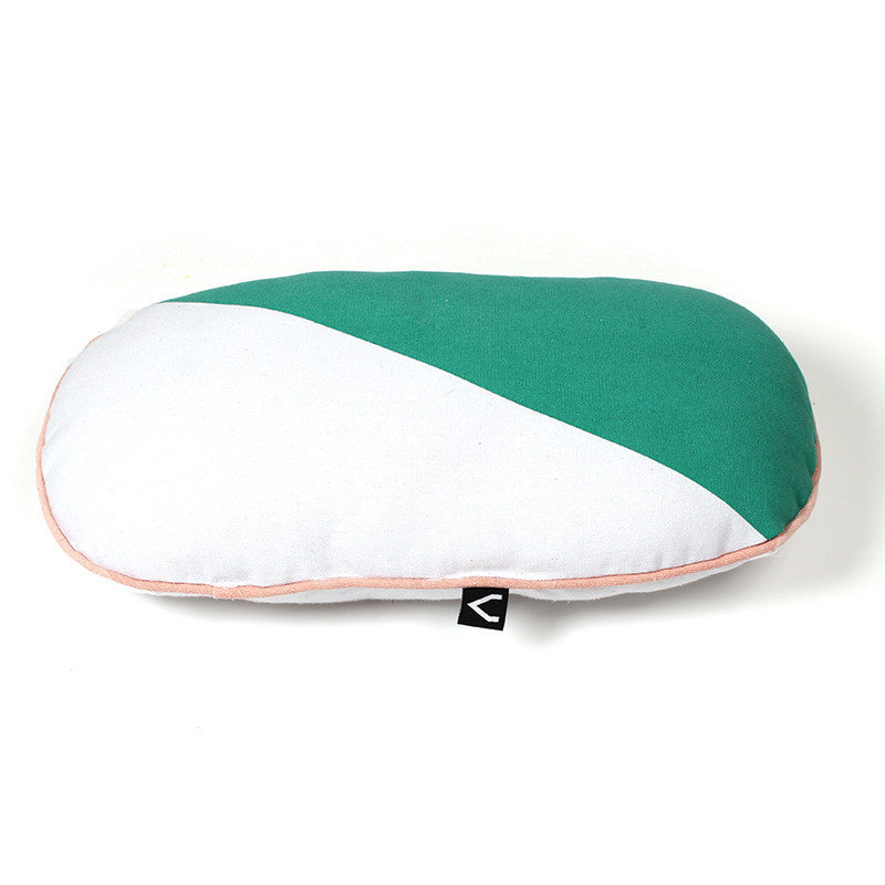 Green and White Cushion