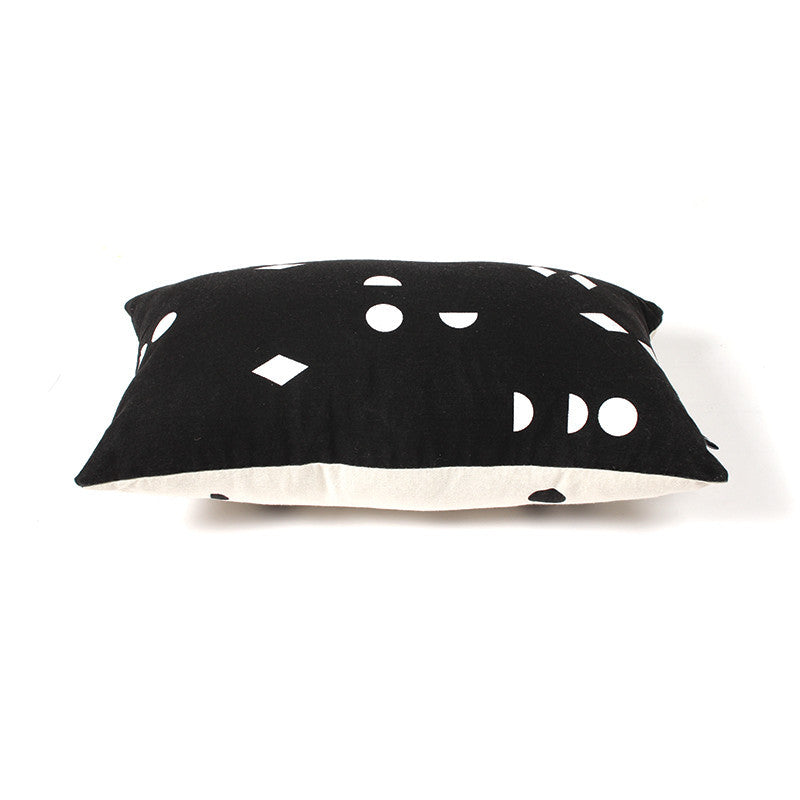 Black and White Shapes Cushion