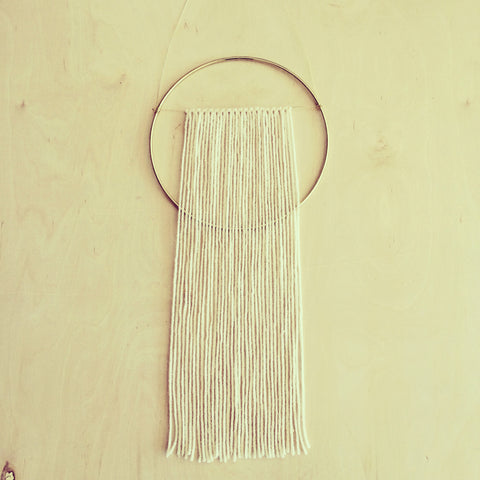 Brass and Yarn Wall Hanging #2