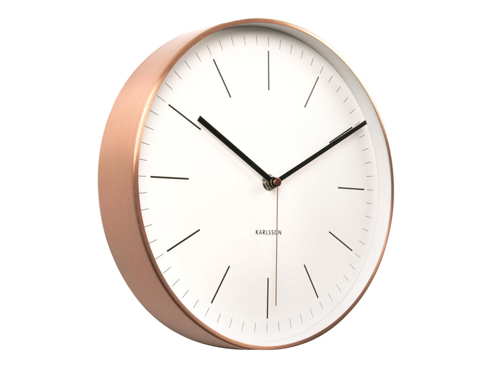 Karlsson Minimal White Copper Clock