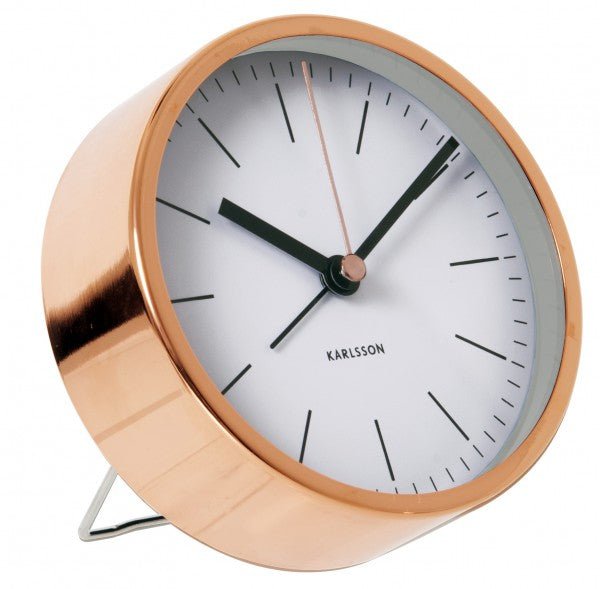 Minimal Copper Alarm Clock