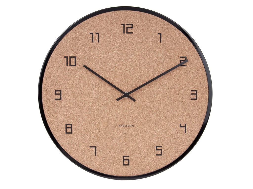 Karlsson Cork Wall Clock- PICK UP ONLY