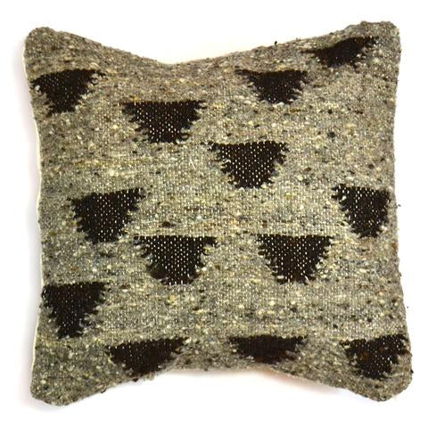 Black & Grey Triangles Pillow