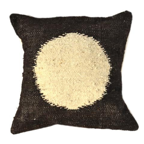 Black & White Circle Pillow