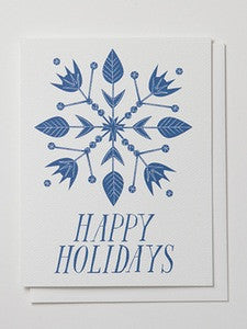 Happy Holidays Snowflake Boxed Cards