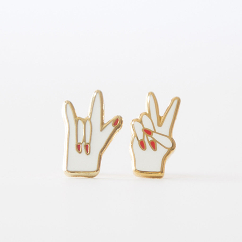 Peace and Love Earrings