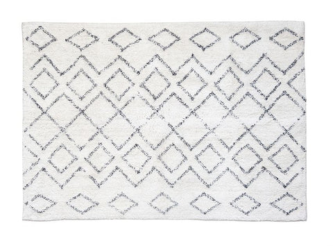 Diamond Pattern Wool Rug- PICK UP ONLY