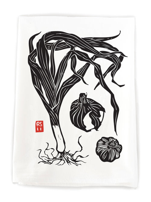 Black Leek & Garlic Dish Towel