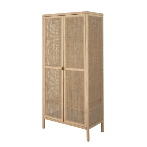 Woven Rattan & Wood Cabinet- PICK UP ONLY