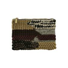 Green Woven Clutch- Medium