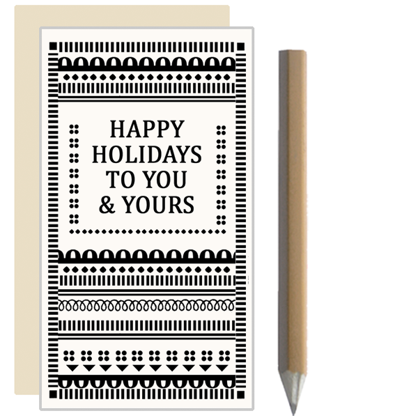 Happy Holidays Mini Cards with Pencil