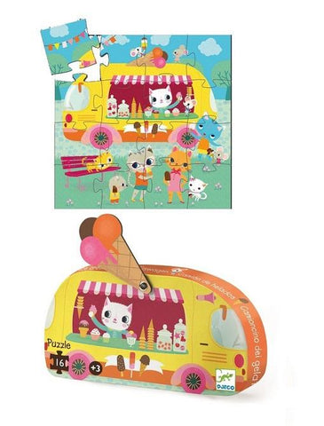 Djeco Ice Cream Truck 16 piece Puzzle