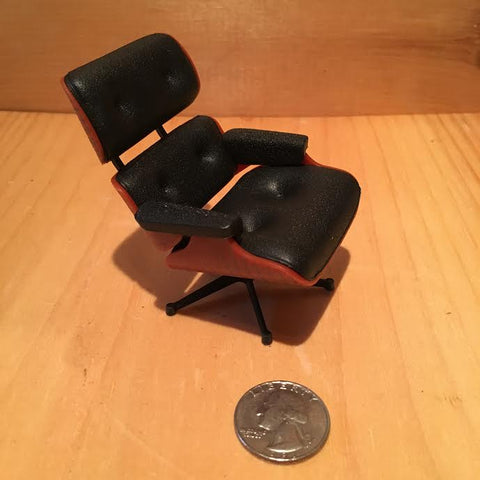 Miniature Black Eames Lounge Chair