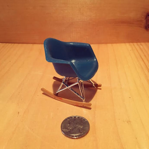 Miniature RAR Blue Armchair