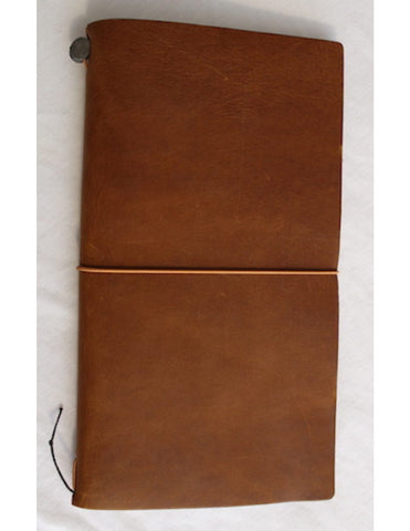 Camel colour leather Midori Traveller's Notebook