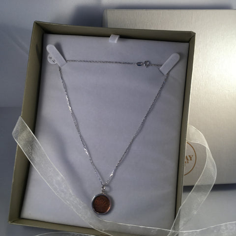 Canadian Lucky Penny Necklace -Sterling Silver
