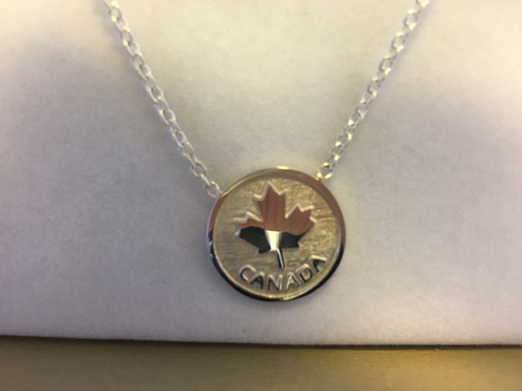 Canada 150, Maple Leaf Necklace, sterling silver