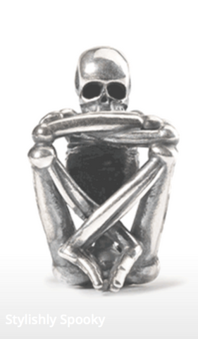 Trollbeads - Sitting skeleton