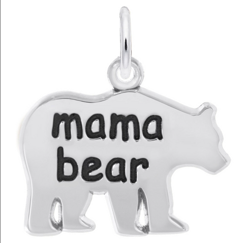 Mama Bear Charm Sterling Silver