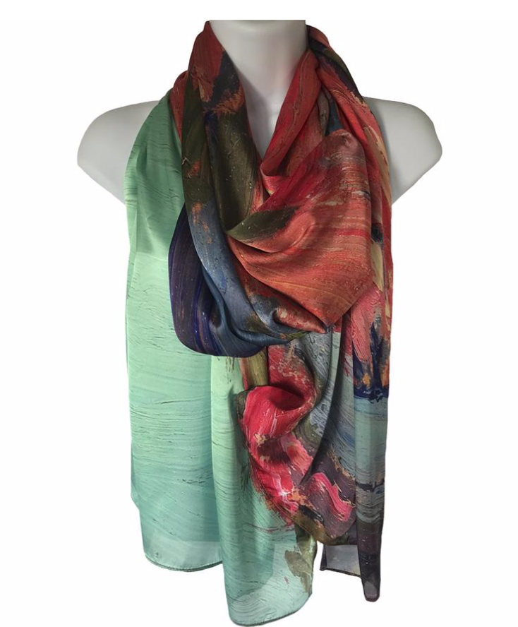 "Tom Thomson ""Petawawa Gorge"" scarf"